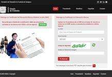 Certificados de estudios vía internet