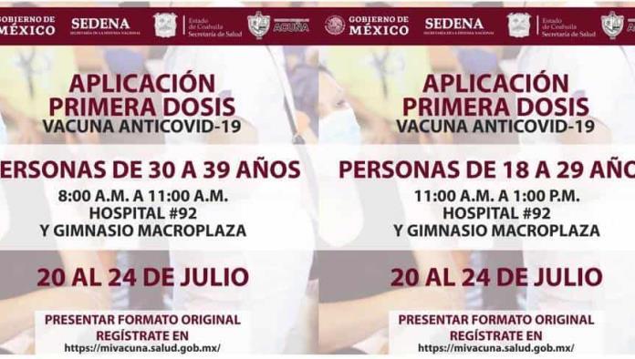 DAN A CONOCER  EL PROTOCOLO DE VACUNACIÓN PARA EL RANGO DE 18 A 39 AÑOS
