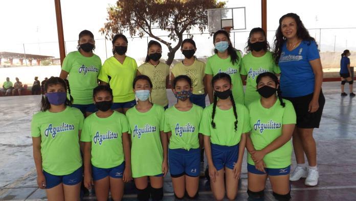 Aguilitas del IMSS campeón en voleibol estudiantil
