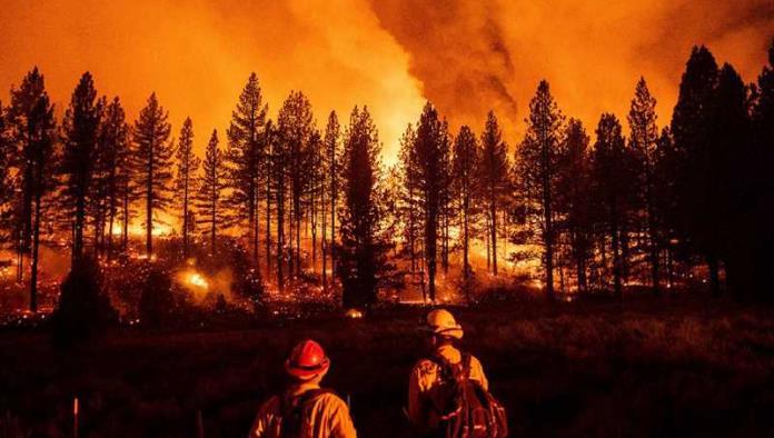 Poderoso incendio consume bosques de Oregón
