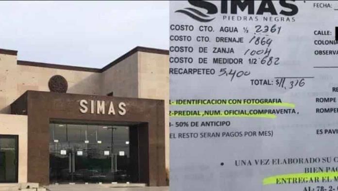 Cobra SIMAS 11 mil pesos por contrato