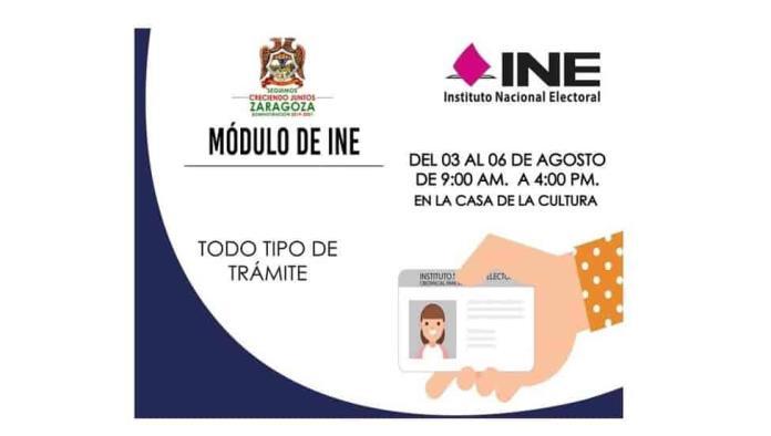 Instalará INE un módulo en Zaragoza