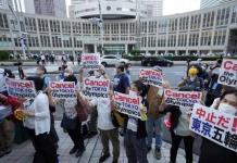 Protestas en inauguración de los Juegos Olímpicos de Tokio 2020