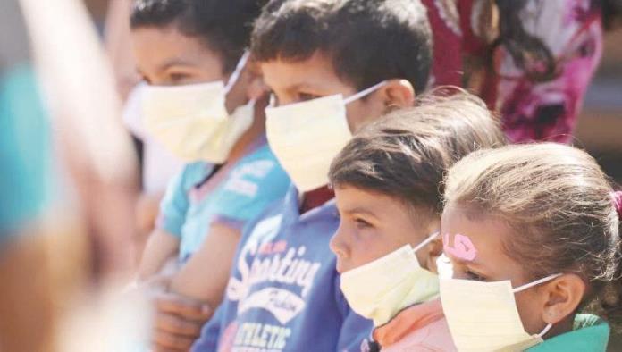 Reportan cinco niños contagiados