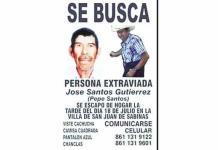 Cumple don José 8 días desaparecido