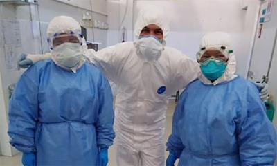 Es personal médico blanco del COVID
