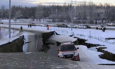 Poderoso terremoto golpea Alaska, Se espera tsunami