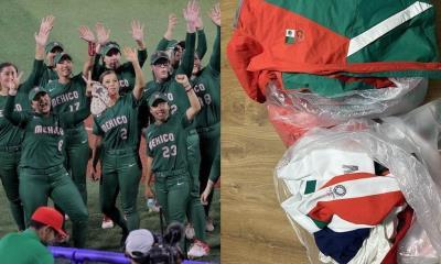 Tiran uniforme olímpico a la basura