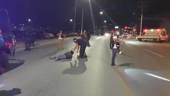 SUJETO EBRIO SIEMBRA TERROR EN AVENIDA INDUSTRIAL