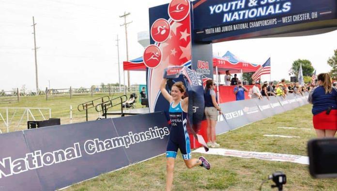 Se corona en EU  Jimena De la Peña  como campeona Nacional de Triatlón