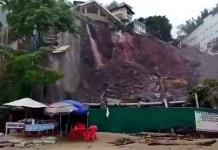 Cerro se derrumba en Puerto Vallarta