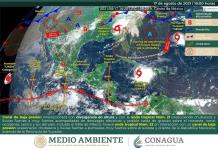 En alerta Proteccion Civil por la tormenta ´Grace´