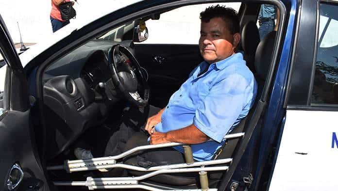 Pierde taxista su pierna