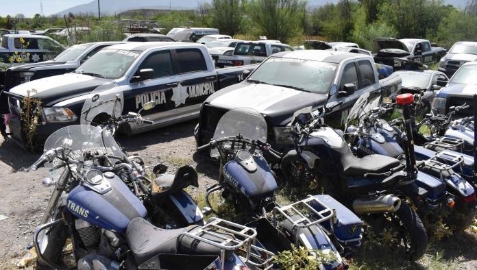 Subasta municipio patrullas y motos