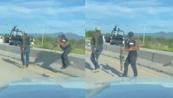 Calmados, calmados; Guardia Nacional se topa con sicarios en Sonora