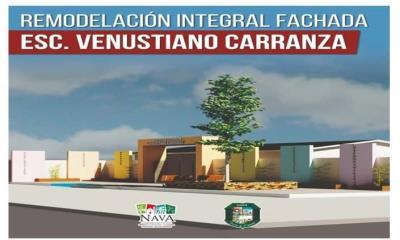 Pone en marcha  rehabilitación de fachada en escuela Venustiano Carranza