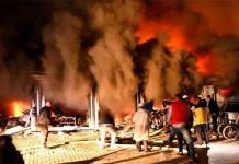 Al menos 14 MUERTOS deja voraz incendio en hospital COVID-19