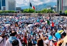 Protesta en Nuevo León grupos provida; Expresan rechazan a la despenalización del aborto