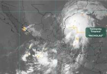 Nicholas dejará lluvias en casi todo el país