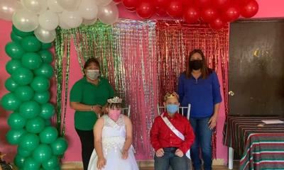 En Villa Unión  coronan a reyes   de discapacidad