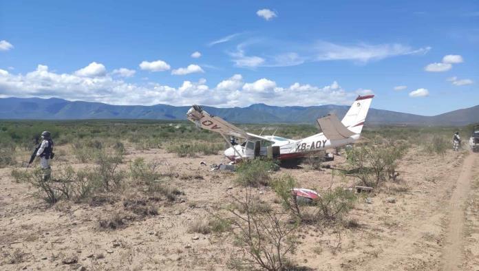 Investigan falla de la avioneta