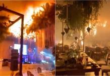 Boda ´en llamas´: Pirotecnia provoca un incendio en salón de fiestas
