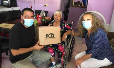 Entrega DIF Coahuila apoyos alimentarios a  adultos mayores de Allende