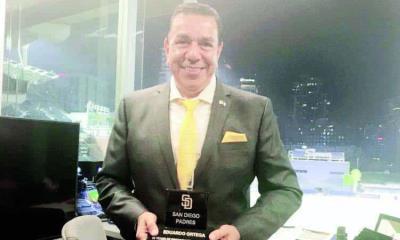 Eduardo Ortega fue reconocido en Ligas Mayores
