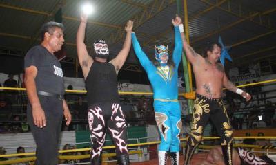 Flyer salió triunfante junto a Guerrero Negro JR y Desalmado Ibarra
