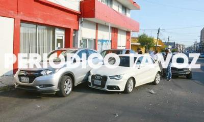 Choca taxi contra Audi