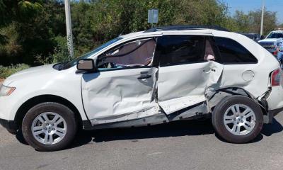 Imprudente conductor ocasiona fuerte percance vial