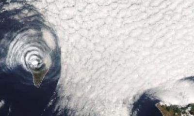 Increíble: la NASA capta misteriosas ondas gravitacionales sobre un volcán
