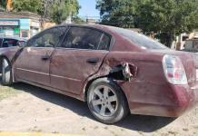 La impacta auto fantasma en la colonia Atilano Barrera
