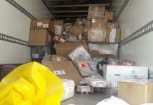 Aseguran cristal en camión de paquetería  se dirigía a Piedras Negras
