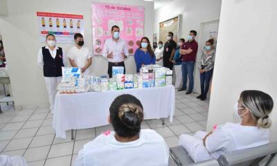 Entregan insumos al centro de salud de Nava