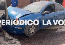 Desgracia automóvil en choque