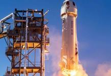 """El """"Capitán Kirk"""" de StarTrek parte a bordo de la nave de Blue Origin"""
