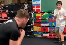Canelo Álvarez entrena al hijo de Manny Pacquiao