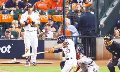 Astros pegan primero