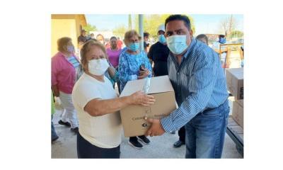 Donan 150 despensas en Morelos