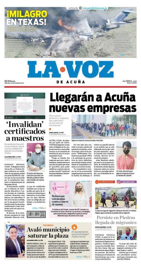 Impreso 10/20/2021 Acuña