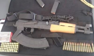 Con 60 cartuchos decomisan una AK-47 en puente 1